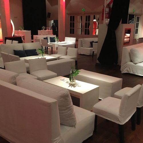 Muebles con funda de Gabardina