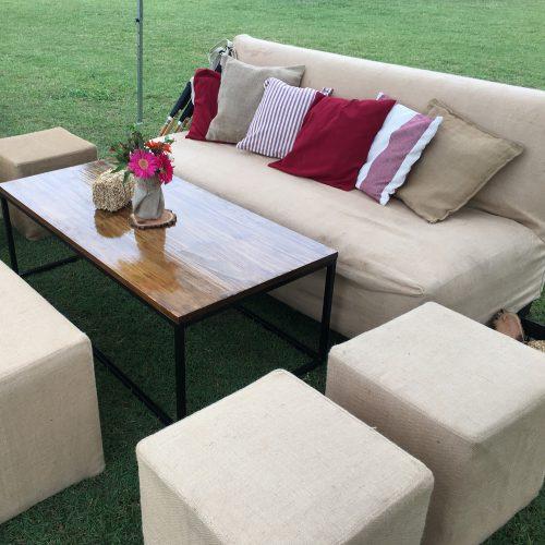 Muebles con funda de Arpillera